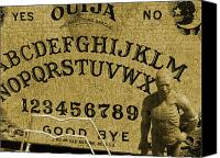 Debi Ling Canvas Prints - Ouija board Canvas Print by Debi Ling