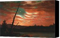 American Flag Canvas Prints - Our Banner in the Sky Canvas Print by Frederic Edwin Church