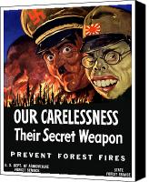 Gifts Digital Art Canvas Prints - Our Carelessness Their Secret Weapon Canvas Print by War Is Hell Store