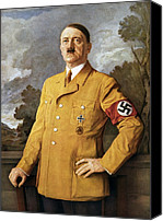 National Canvas Prints - Our Fuhrer, A Portrait Of Adolf Hitler Canvas Print by Everett