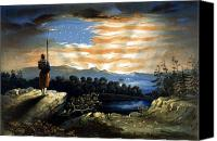 Civil War Painting Canvas Prints - Our Heaven Born Banner Canvas Print by War Is Hell Store