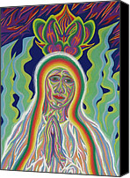 Queen Of Heaven Canvas Prints - Our Lady of Fatima 2012 - Detail A Canvas Print by Robert  SORENSEN