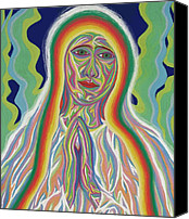 Queen Of Heaven Canvas Prints - Our Lady of Fatima 2012 - Detail B Canvas Print by Robert  SORENSEN