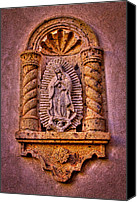 Tlaquepaque Canvas Prints - Our Lady of Guadalupe at the Chapel in Tlaquepaque  Canvas Print by David Patterson