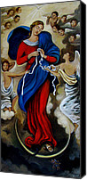 Queen Of Heaven Canvas Prints - Our Lady Undoer of Knots Canvas Print by Valerie Vescovi