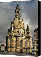 Frauenkirche Canvas Prints - Our Ladys Church of Dresden Canvas Print by Christine Till