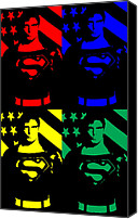 Super Heroes Canvas Prints - Our Man Of Steel Canvas Print by Saad Hasnain