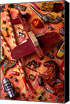 Collectible Canvas Prints - Our Old Toys Canvas Print by Garry Gay