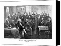 American Drawings Canvas Prints - Our Presidents 1789-1881 Canvas Print by War Is Hell Store