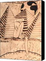 Nude Pyrography Canvas Prints - OUR WORLD No.1  Still and Silent Canvas Print by Neshka Agnieszka Muchalska