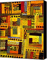 Quilt Pattern Canvas Prints - Out of Africa Canvas Print by JoeRay Kelley