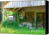 Screen Doors Photo Canvas Prints - Out of Business Canvas Print by Connie Fox