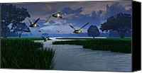 Geese Canvas Prints - Out of the Storm Canvas Print by Dieter Carlton