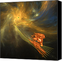 Blackhole Canvas Prints - Out of the Wormhole Canvas Print by Gordon Engebretson