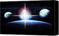Susan Leggett Digital Art Canvas Prints - Out of This World Canvas Print by Susan Leggett