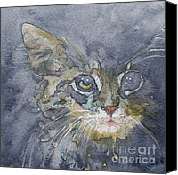 Tabby Painting Canvas Prints - Out The Blue You Came To Me Canvas Print by Paul Lovering