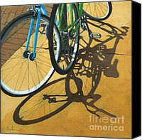 Linda Apple Canvas Prints - Out to Lunch Canvas Print by Linda Apple