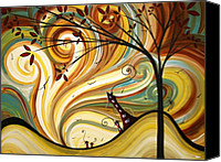 Sun Canvas Prints - OUT WEST Original MADART Painting Canvas Print by Megan Duncanson