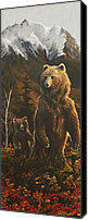 Kodiak Canvas Prints - Out with Mom Canvas Print by Scott Thompson