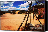 Traveling Canvas Prints - Outdoor Village Movie Set Canvas Print by Susanne Van Hulst