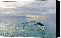 Solitude Canvas Prints - Outrigger Serenity Canvas Print by Monica & Michael Sweet - Printscapes