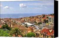 Middle Ages Photo Canvas Prints - Over the roofs of Sanremo Canvas Print by Joana Kruse