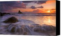 Coast Tapestries Textiles Canvas Prints - Overcome Canvas Print by Mike  Dawson