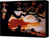 Home Painting Canvas Prints - Overlooking Tara at Sunset Canvas Print by Al  Molina