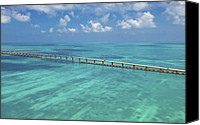 Florida Bridge Photo Canvas Prints - Overseas Highway Canvas Print by Patrick M Lynch
