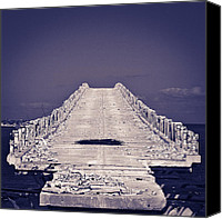 Florida Bridge Photo Canvas Prints - Overseas Railroad II Canvas Print by Scott Meyer