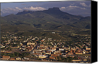 Setting Canvas Prints - Overview Of Town Of Trinidad Canvas Print by Phil Schermeister