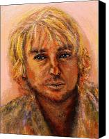 Regina Brandt Canvas Prints - Owen Wilson Canvas Print by Regina Brandt