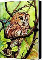 Legend Canvas Prints - Owl from Butterfingers and Secrets Canvas Print by Morgan Fitzsimons