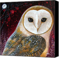 Shaman Canvas Prints - Owl Power Animal Canvas Print by Amanda Clark