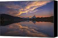 Fine Art Photo Canvas Prints - Ox Bow Bend Sunset Canvas Print by Joseph Rossbach