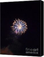 Independence Day Canvas Prints - Oxford Fireworks Canvas Print by Joshua House