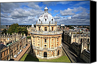 Library Canvas Prints - Oxford library and spires Canvas Print by Paul Cowan
