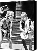 1980s Canvas Prints - Ozzy Osbourne And Randy Rhoads, C. 1981 Canvas Print by Everett