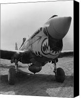 Vintage Canvas Prints - P-40 Warhawk Canvas Print by War Is Hell Store