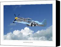Photo Digital Art Canvas Prints - P-51 Mustang Canvas Print by Larry McManus