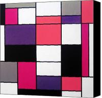 Great Painting Canvas Prints - P Cubed Canvas Print by Oliver Johnston