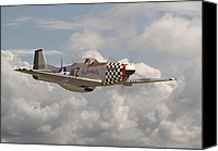 P51 Mustang Canvas Prints - P51 - Doll Canvas Print by Pat Speirs