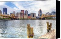 Clemente Canvas Prints - PA0003 Pittsburgh 3 Canvas Print by Steve Sturgill