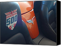 Unique Cars Canvas Prints - Pace Ride - Indianapolis 500 Corvette Canvas Print by Steven Milner