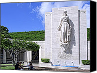 Honolulu Photo Canvas Prints - Pacific Theater War Memorial - Honolulu Canvas Print by Daniel Hagerman