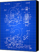 Engineering Canvas Prints - Padlock Patent Canvas Print by Stephen Younts