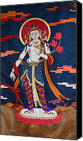 Thangka Canvas Prints - Padmapani Canvas Print by Leslie Rinchen-Wongmo