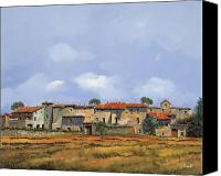 Brick Canvas Prints - Paesaggio Aperto Canvas Print by Guido Borelli