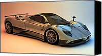 Louis Ferreira Art Canvas Prints - Pagani Zonda F Canvas Print by Louis Ferreira