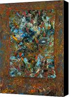 Abstract Tapestries Textiles Canvas Prints - Paint number 24 Canvas Print by James W Johnson